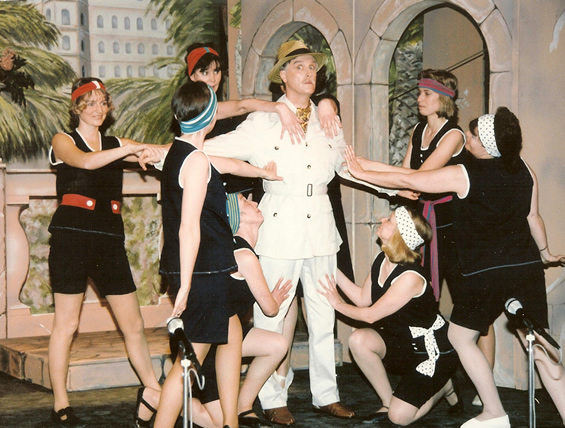 Percival with chorus girls