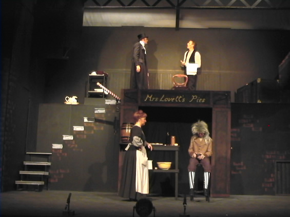 Judge Turpin, Sweeney, Mrs Lovett and Tobias